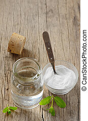 homemade mouthwash made from Peppermint and baking soda -...