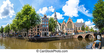 Oude Kerk Old Church in Amsterdam - Oude Kerk Old Church and...