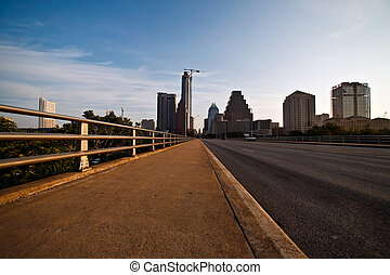 Downtown Austin, Texas - An early morning view of downtown...