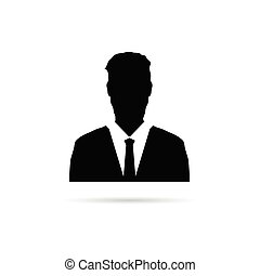 man vector silhouette with tie illustration