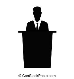 speaker vector silhouette illustration