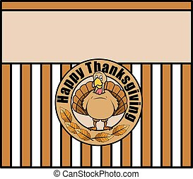 Thanksgiving Day Vector Banner - Thanksgiving Day Turkey...