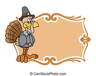 Thanksgiving Day Turkey Banner