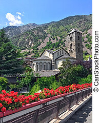 Historic center of Andorra La Vella, capital of Andorra.