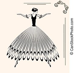 image of ballet woman