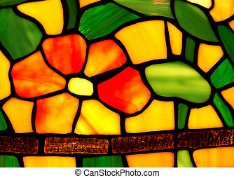 Tiffany Lamp - Detail of a tiffany lampshade
