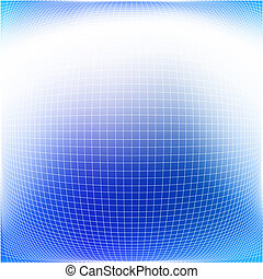 Bulging grid - Abstract editable vector background of a...
