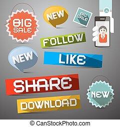 Social Media Vector Symbols Set