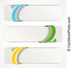 Abstract banners - Abstract colorful banners with swirl...