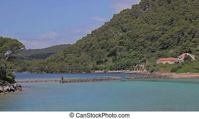 Entrance to the national park Mljet, Croatia - Entrance to...