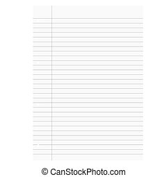 Blank white paper lined