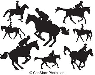 Show jumper silhouette - this is apicture from many show...