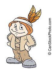 Happy Cartoon Character
