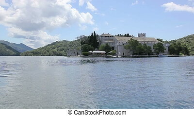Small island on the lake in national park Mljet, Croatia -...