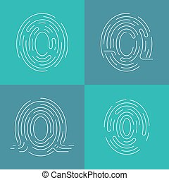 Set of icons fingerprint