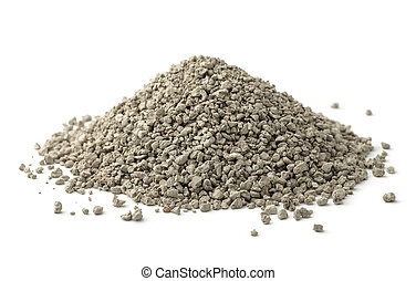 Clumping cat litter - Pile of clumping cat litter isolated...