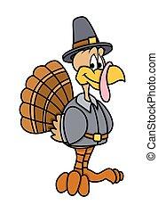 Happy Cartoon Turkey