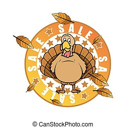 Turkey Bird Sale Banner Vector
