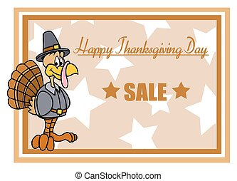 Cartoon Turkey Sale Banner