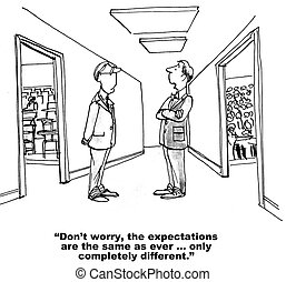 Education System - Cartoon of two teacher talking, the...