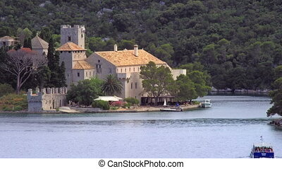 Monastery of Saint Mary - National park on island Mljet,...
