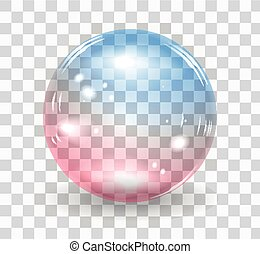 Bubble soap - Transparent soap bubble. Vector realistic...