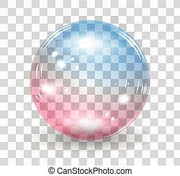 Bubble soap - Transparent soap bubble. Vector realistic...