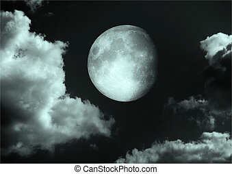 moon in the night sky