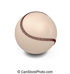Baseball ball isolated on white background 3d illustration