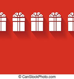 Vector gift background - Vector gift red background with...