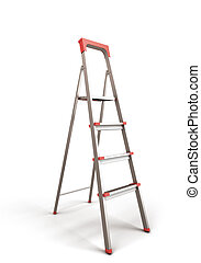 Stepladder isolated on white baclground 3d render...