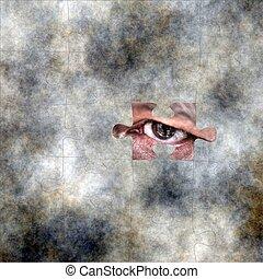 Eye on puzzle