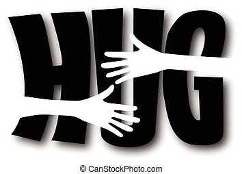 Clipart of a big hug valentines day or other love celebration ...