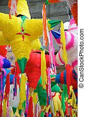 feriado, mexicano,  Pinatas