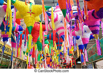 mexicano, feriado, Pinatas,