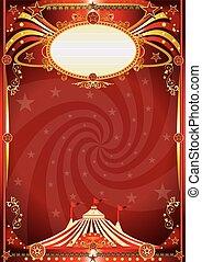 circus red vortex background