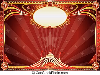 Horizontal Blue circus background