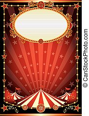 red and black circus background - A vintage circus...