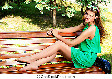 smiley girl - Romantic young woman with beautiful smile...