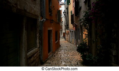 Small alley in Pula Croatia glidecam footage - Small alley...