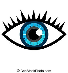 Blue Eye Icon - An image of a blue eye icon