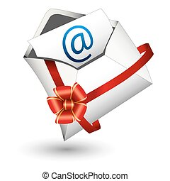 Email Gift Icon - An image of an email gift icon