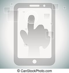 Touch Screen Technology - An image of touch screen...