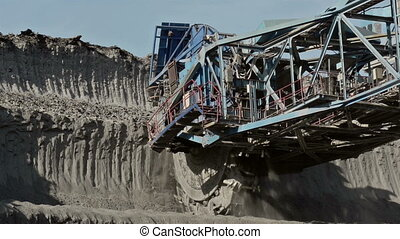 Landscape with Excavator - Landscape with excavator on sunny...