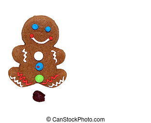 Gingerbread Man Poops Chocolate Chip.