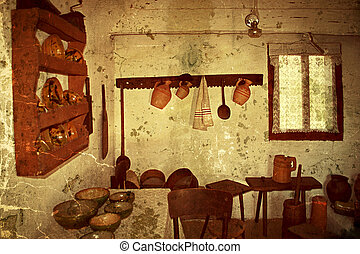Old photo with Romanian traditional home interior 6 -...