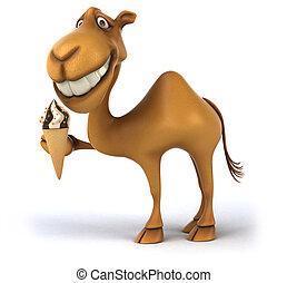 diversión, camello