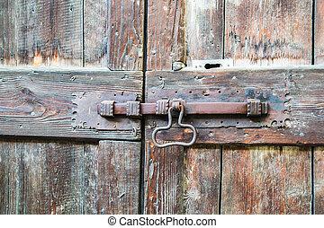 deadbolt on wooden door - deadbolt on old wooden door