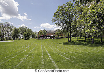 Large landscaped grounds - Large grounds of luxury home with...