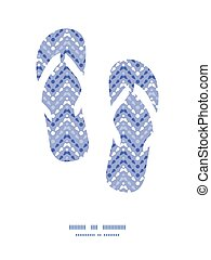 Vector purple drops chevron flip flops silhouettes pattern...